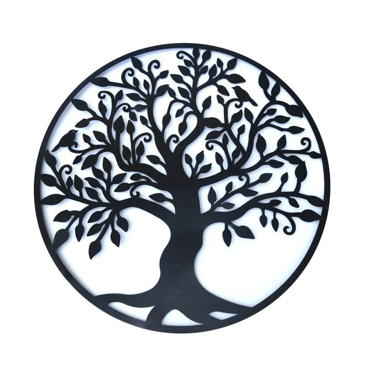 3D Round Wall Hanging Decorations Diameter 60cm Tree Of Life Iron Art Home Hanging Ornament Iron Tree Wall Decoration