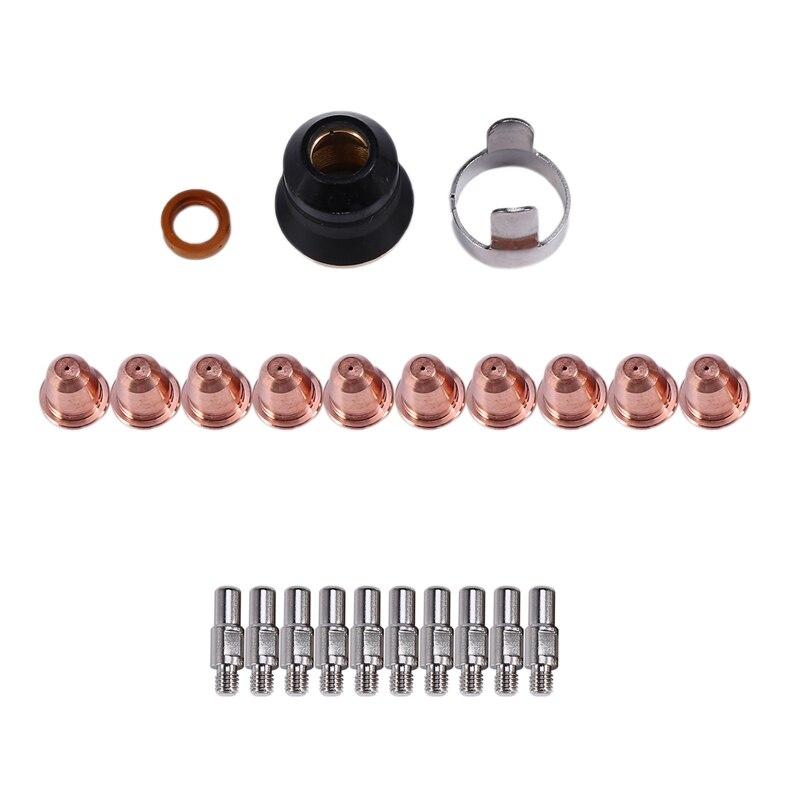 S45 CUT55 PT-40 PT40 IPT-40 PT-60 PT60 PTM-60 IPT-60 Plasma Torch Cutter Consumables Kit Trafimet 0.9mm 40A