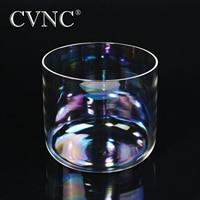 CVNC 432Hz 6'' 4 octave Clear Quartz Crystal Singing Bowl with Natural Cosmic Light