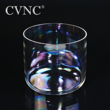 CVNC 6 Chakra Note C C# D D# E F F# G G# A A# B any note  Clear Quartz Crystal Singing Bowl with Natural Cosmic Light