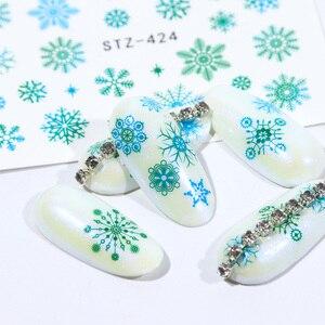 Image 4 - 30 個白雪ンネイルステッカーアートスライダークリスマス装飾爪デザイン箔水デカールマニキュア TR862