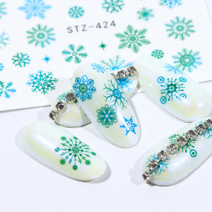 Image 4 - 30pcs White Snowflakes Nail Stickers Art Sliders Set For Christmas Decorations Nails Designs Foils Water Decals Manicure TR862