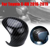 Alavanca de engrenagem de fibra de carbono shift knob capa guarnição para toyota C-HR 2016-2019