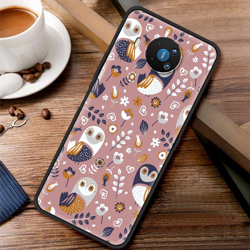 Lovely Animal Owl Silicone Case Funda For Nokia 2.2 2.3 3.2 4.2 7.2 1.3 5.3 8.3 5G 2.4 3.4 C3 C2