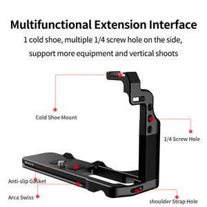 Image 5 - UURig L Plate for FUJIFILM X T4 Camera Extend Cold Shoe Mount Bracket Vlog Handle L Plate Fujifilm XT4 Camera Accessories