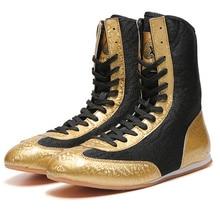 Original Man Wrestling Shoe Professional Boxing Shoes High-top Foot Protection Sanda Training Combat Squat Men Shoes boxing shoe