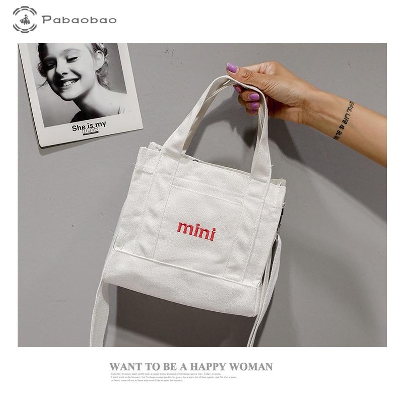Pabaobao Women Casual Canvas Bag for women 2019 Satchel Travel Handbags Crossbody bags Large Capcity Totes dropship
