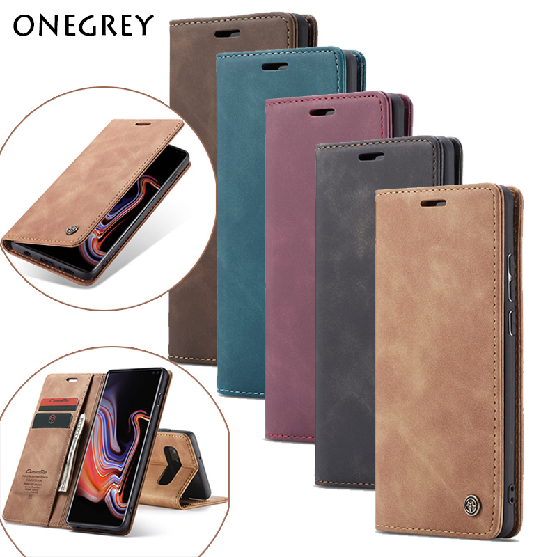 Magnetic A70 A50 A20 E A30 A40 A10 M10 S <font><b>Case</b></font> For <font><b>Samsung</b></font> Galaxy S8 S9 Note10 S10 Plus S7edge S10E 5G <font><b>A80</b></font> A90 M20 Leather Cover image