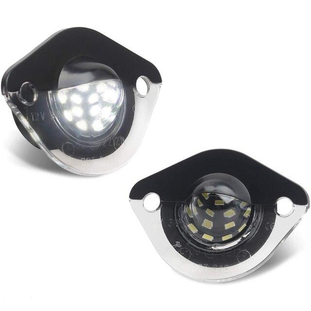 Ford Mustang 1994 2004 için LED plaka etiketi işık lisans çerçeve lamba tarafından desteklenmektedir 18 SMD elmas beyaz LED hata ücretsiz