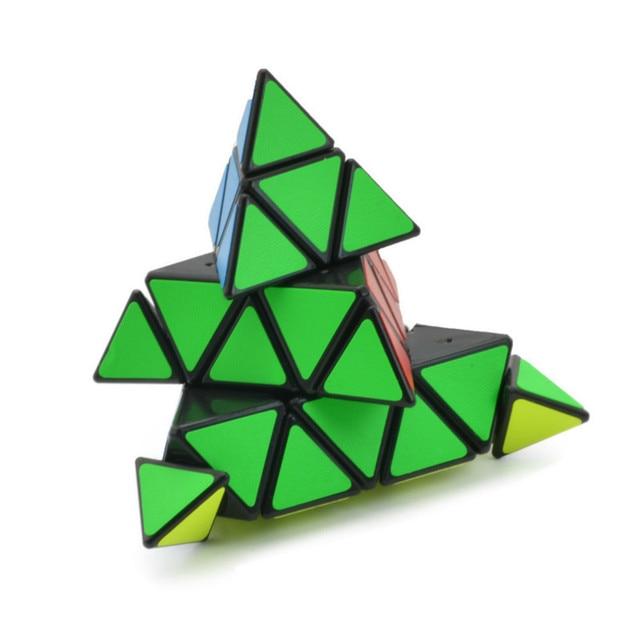 4x4x4 Pyramid Cube Black/Stickerless Magic Cube  95*95*95mm Pyramid Cube 4x4 Puzzle Pyramid Cube Special Toys For Children 2