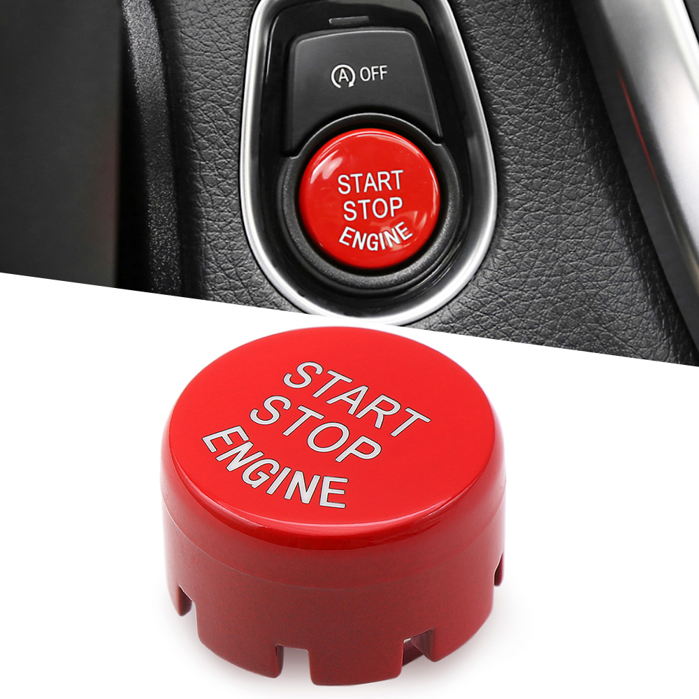 Auto Motor Start Stop Taste Rot Farbe Ersetzen Upgrade-Auto-Styling Für BMW F30 F10 F34 F15 F25 F48 x1 X3 X4 X5 X6