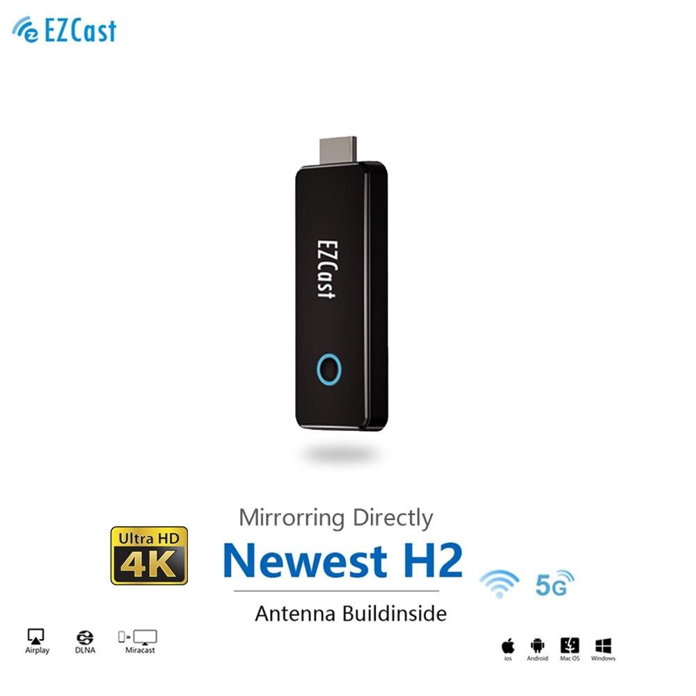 EZCAST H2 5G 4K Drahtlose TV stick antenne buildinside anycast miracast mirascreen Dongle 5G TV Stick