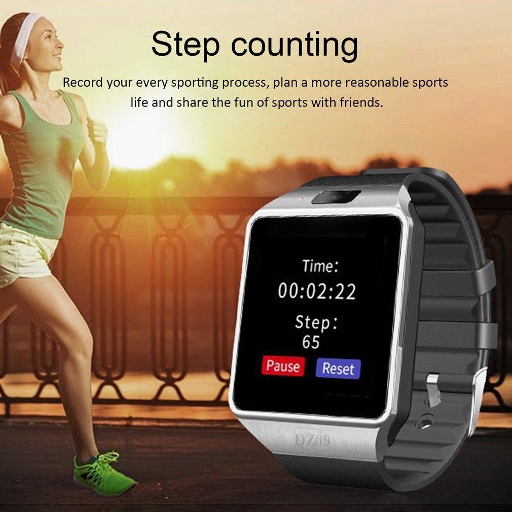Smartwatch Relógio inteligente Dz09 Ouro Prata Relógios Para Ios Para Android Relógio Da Câmera Cartão Sim