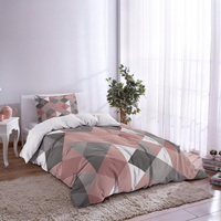 Triangle Repeat Geometric Art Stitching Duvet Cover Set 2/3/4pcs Bedding Set Bed Sheet Pillowcases Cover Set