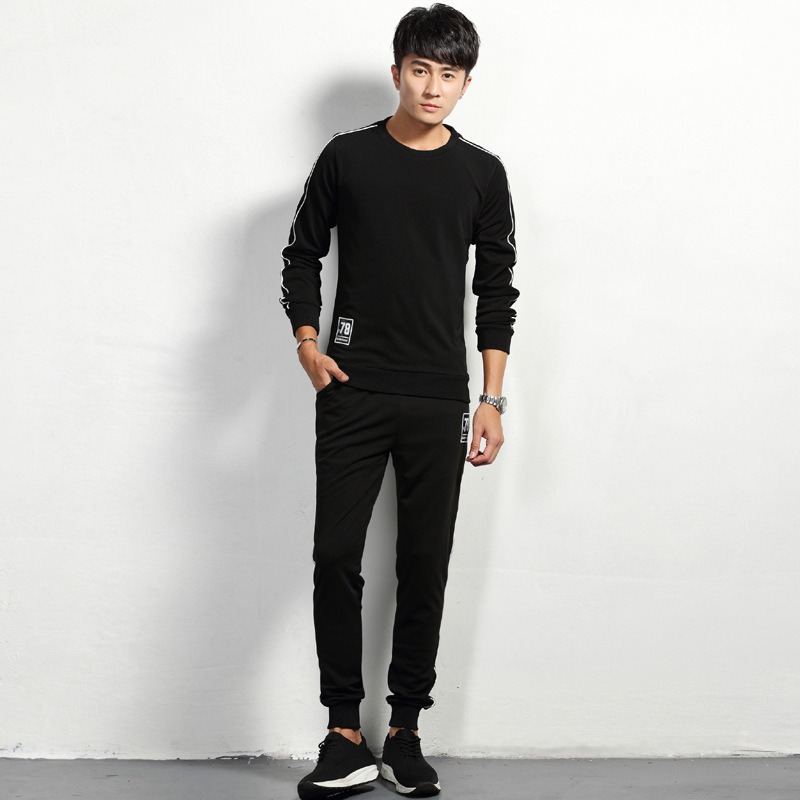 2019 Spring And Autumn Fashion Korean-style Long Sleeve Leisure Suit Young MEN'S Comfortable Slim Women's Versatile Trend Trouse