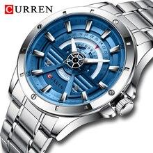 CURREN Men's Watch Top Brand Luxury Stainless Steel Waterproof Luminous Quartz Watch Men Fashion Date Clock Sports Wristwatch