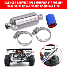 Rc Car Silencer of Exhaust Muffler Pipe For 1/5 Scale HPI Racing BAJA ROVAN 5B 5T 5SC LOSI TDBX FS Remote Control Toy Truck