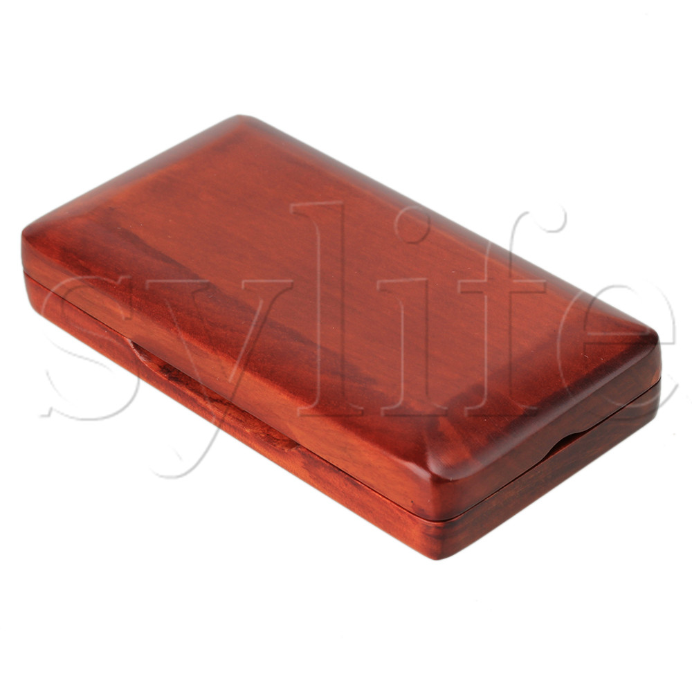 Wooden Oboe Reed Case Holds 3PCS Oboe Reeds Protector With Soft Velvet Red