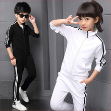 children clothing 2020 autumn girls clothes set long sleeve t shirts pants girls sport suits teen kids clothes 5 6 8 10 12 years Boys Girls Clothing set Children's Spring &Autumn Solid Student Sprotwear 2pcs suits Long Sleeve Clothes 5 6 8 10 12 14 16 Years