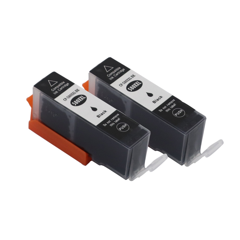 2 BLACK Compatible Ink Cartridge for <font><b>Canon</b></font> PGI580 PGI <font><b>580</b></font> PGI-<font><b>580</b></font> PIXMA TR7550 TR8550 TS6150 TS6151 TS8150 TS8152 TS9150 TS9155 image