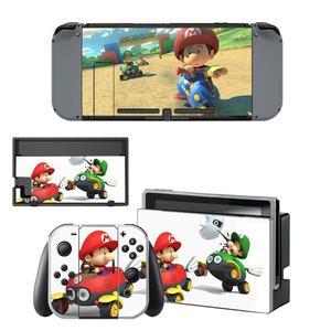 Image 3 - Mario kart Nintendoswitch peau nintention interrupteur autocollants décalcomanie pour Nintendo Switch Console Joy con contrôleur Dock peaux vinyle