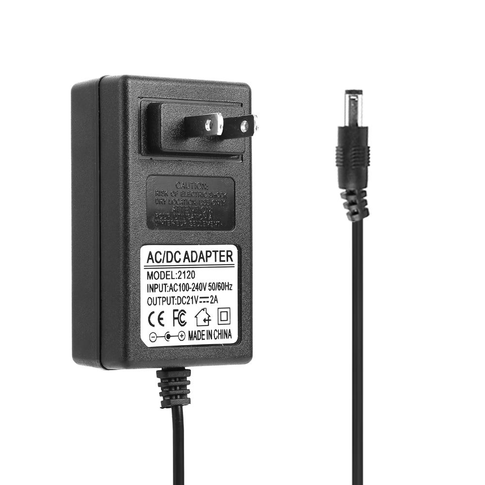 21V 2A 18650 Литий Батарея Зарядное устройство DC 5,5x2,5 мм штекер Мощность адаптер Зарядное устройство для 18490 14650 14514430 Батарея пакет