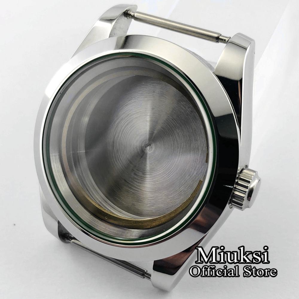 Miuksi 40mm Stainless Steel Sapphire Glass Watch Case Fit ETA 2836 Miyota8205/8215/821A/82series Mingzhu 2813/3804 Movement
