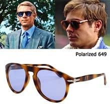 Clasico vintage jackjad 2020 de moda 649 estilo aviador gafas de sol polarizadas conduccion de los hombres de diseno