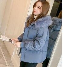 Short Cotton coat Women New Korean Loose Bread Thick Warm cotton Parkas Winter Casual Hooded Fur collar Down cotton Jackets F920