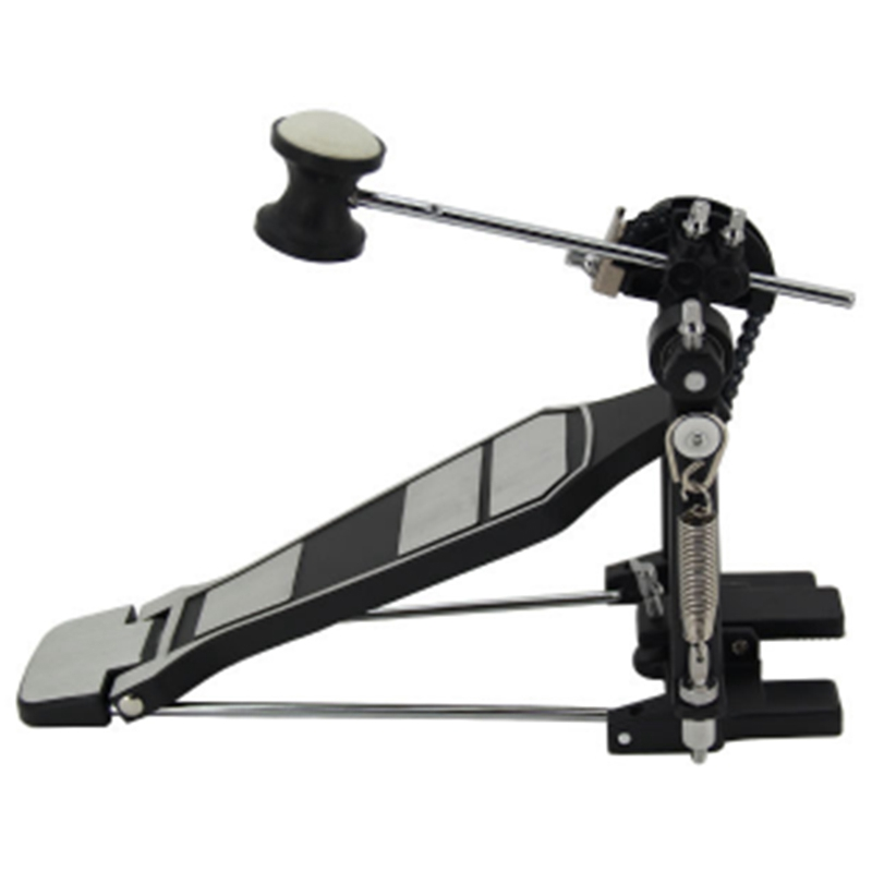 Rack Bass Drum Pedal Set With Drum Beater Single Chain Drive Kit For Drummer