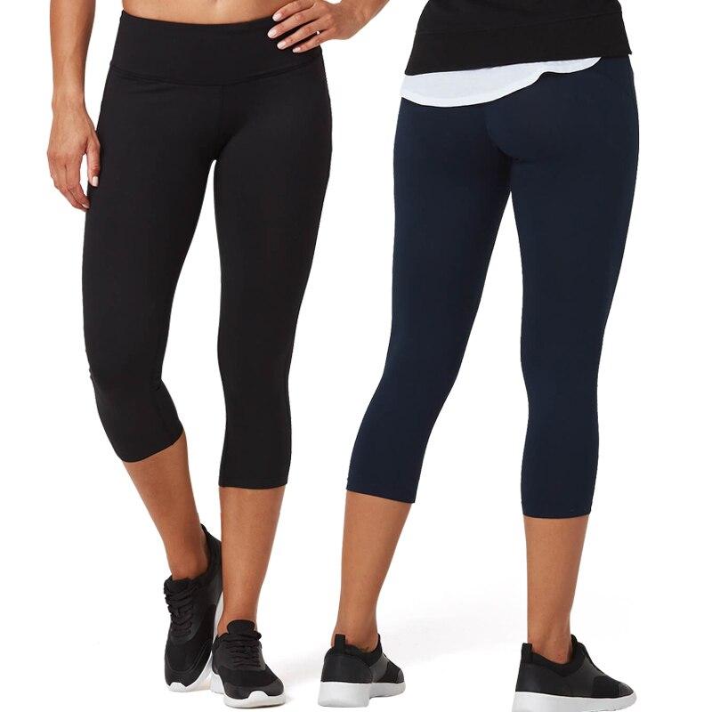Vutru Mallas Deporte Mujer Running Tights Women Solid Leggings Stretchy Pants Capris High Waist Sports Wear Gym