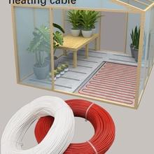 Heating-Cable Electro-Thermal-Wire Flame-Retardant Carbon-Fiber 12K 33ohm Rubber 5V-220V-300V