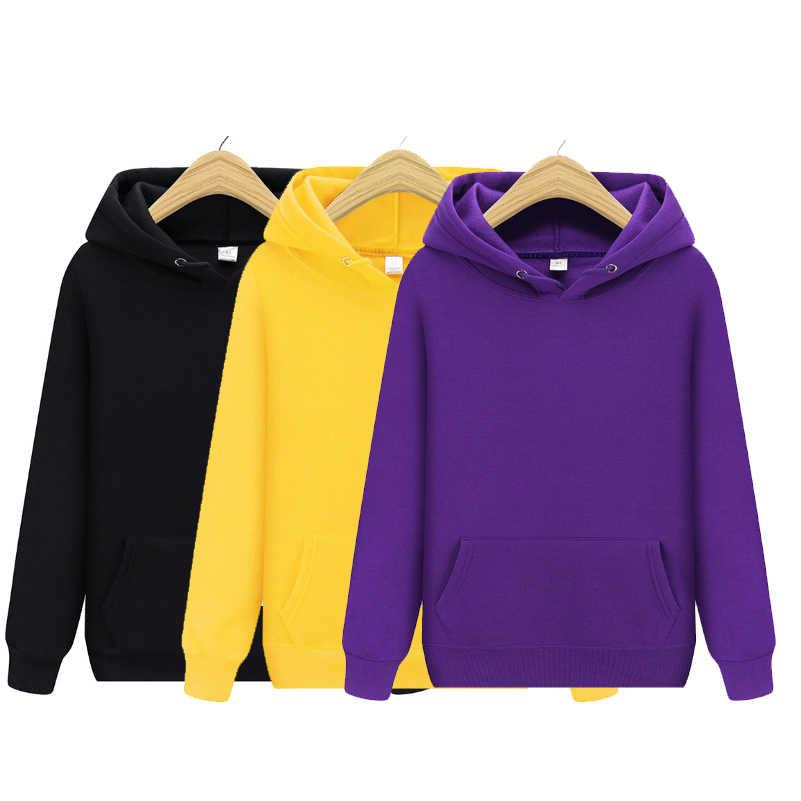 แฟชั่นผู้ชาย Hoodies 2020 ฤดูใบไม้ผลิฤดูใบไม้ร่วงชาย Casual Hoodies เสื้อผู้ชายสีทึบ 13 สี Hoodies Sweatshirt Tops