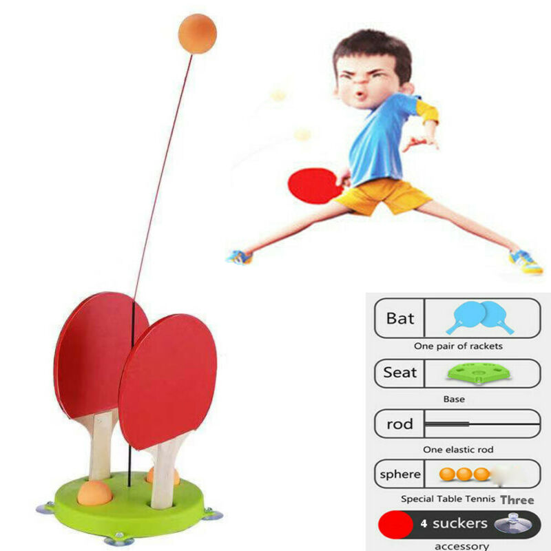 Table Trainer Equipment Elastic Soft Shaft Table Tennis Ping Pong Trainer Parent-Child Leisure Sport Table Accessories
