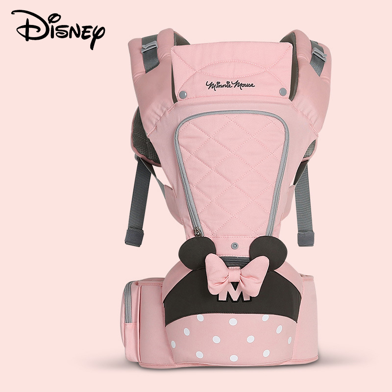 Disney 0 36 Months Bow Breathable Front Facing Baby Carrier Hipseat 20kg Infant Comfortable Sling Backpack Pouch Wrap  Carriers-in Backpacks & Carriers from Mother & Kids