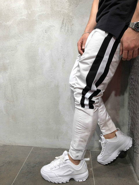 Tether Rope Color Matching Feet Trousers 6