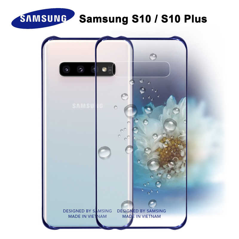 Samsung S10 Case Official Original Clear Shockproof Hard Case Transparent PC Shockproof Galxy S8 S9 S10 Plus S10e Back Case