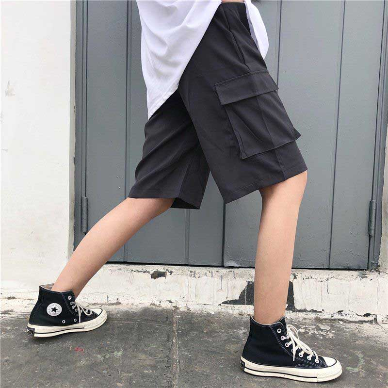 NiceMix Hip Hop Casual Pocket Cargo Short Fashion Ulzzang Vintage New Large Size Loose Female American Couple Harajuku Shorts
