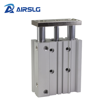 цена на Compact guide cylinder Thin Three axis air pneumatic cylinder with guide rod MGPM bore 12 16mm stroke 10-150mm MGPM12-20Z 16-30Z