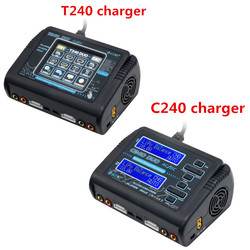 HTRC T240 / C240 DUO AC 150W DC 240W 10A Touch Screen Dual Channel Battery Balance Charger Discharger For RC Drone Models Toys