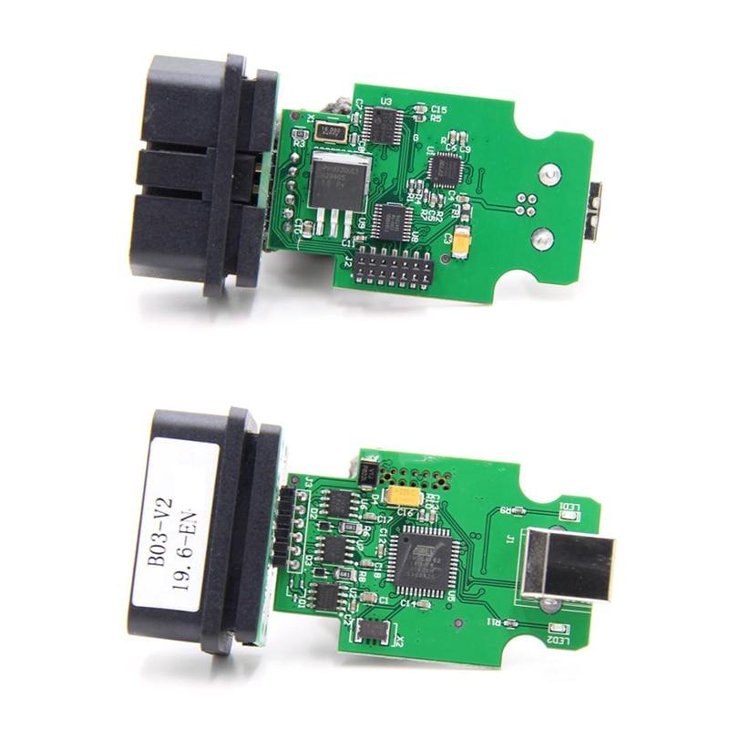 Electrical Testers General OBDII 16Pin Diagnostic Interface 2nd 19.6.1ATMEGA162+16V8B+FT232RQ