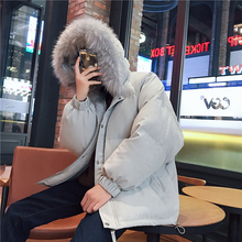 Winter Jacket Men Warm Fashion Solid Color Casual Fur Collar Hooded Parka Men Jacket Coats Streetwear Loose Cotton Male Clothes winter jacket men warm fashion solid color casual fur collar hooded parka men jacket coats streetwear loose cotton male clothes