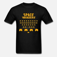 Halliday space invaders Uomini Magliette Cotone T-Shirt manica corta Pronto Player One giochi ernest cline uovo di pasqua della cultura pop(China)
