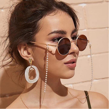2019 Chic Fashion Reading Glasses Chain for Women Metal Sunglasses Cords Casual Pearl Beaded Eyeglas