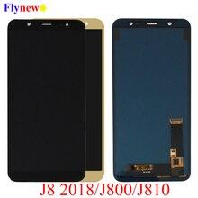 SM J810M شاشات LCD لسامسونج غالاكسي J8 2018 J800 J800FN J810 J810F J810Y LCD محول الأرقام بشاشة تعمل بلمس عرض الجمعية استبدال أجزاء
