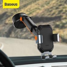 Baseus – Support de voiture réglable par gravité, avec Base d'aspiration, pour téléphone portable, 4.7-6.5 pouces