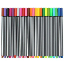 24 Colors Stationery School Office Water Color Pen Fine Line 0.4mm Tip Smooth Drawing Marker Art Supplies Sketch(China)