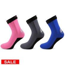 3 мм неопреновые носки Дайвинг Водонепроницаемая сапоги с нескользящей подошвой купальный пляжный носок обувь подводного плавания серфинга теплые носки обувь Для мужчин Для женщин на открытом воздухе