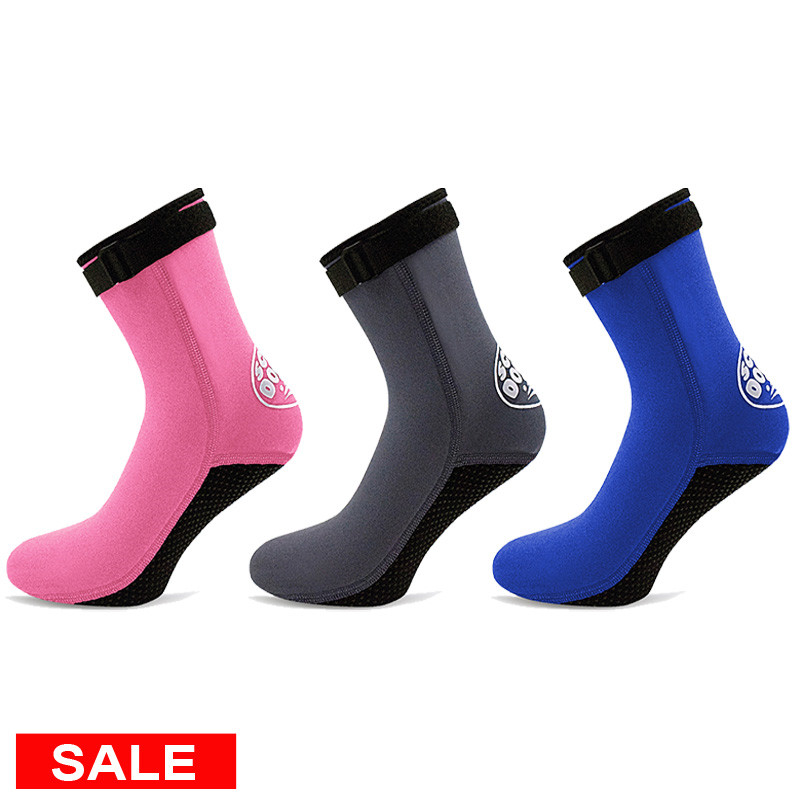 3mm Diving Neoprene Sock Shoes Scuba Flippers for Swimming Water Boots Beach Sock Snorkeling Surfing Warm Sock Shoes Men Women(China)