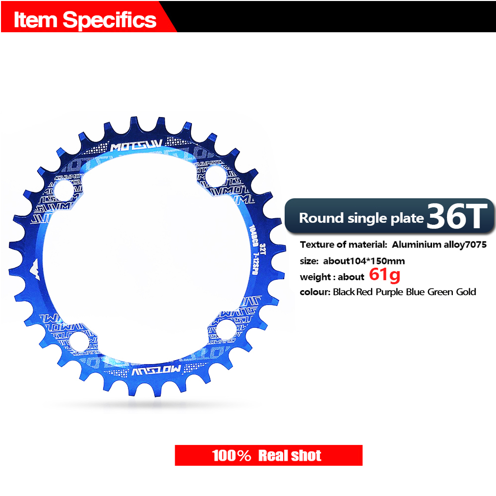 ALI shop ...  ... 32784513884 ... 5 ... Bicycle Crank 104BCD Round Shape Narrow Wide 32T/34T/36T/38T MTB Chainring Bicycle Chainwheel Bike Circle Crankset Single Plate ...